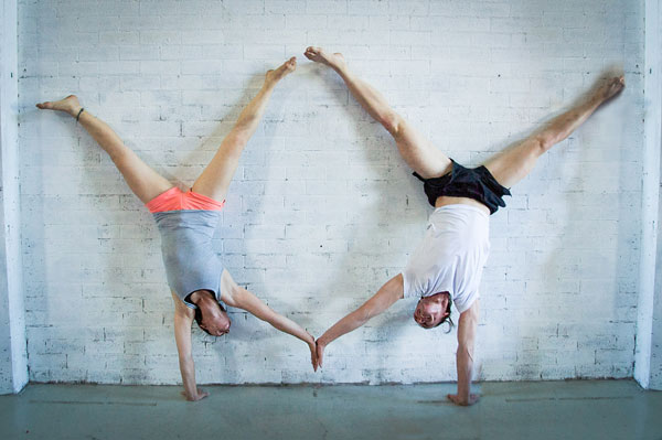 high fives for handstands with friends