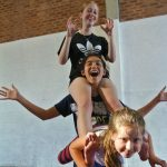 Acrobalance in kids circus classes