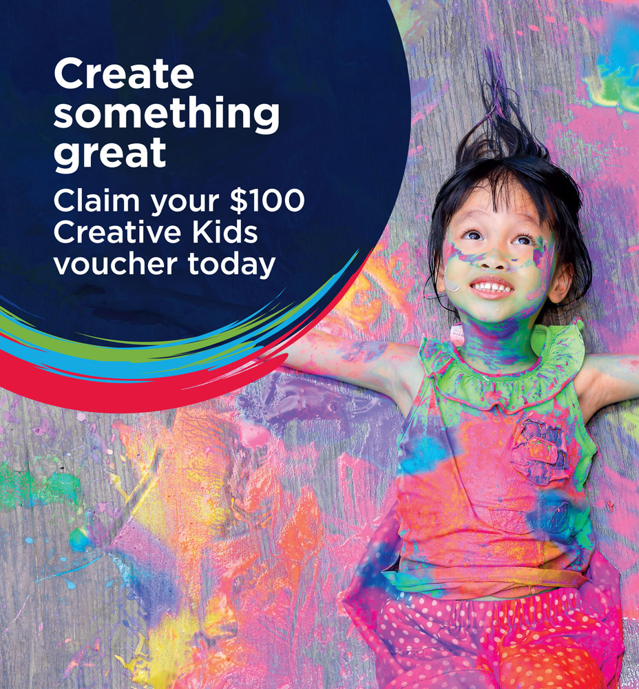 Use your creative kids voucher for $100 off on circus classes!